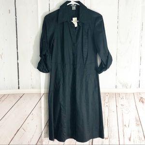 Ann Taylor • Button Down Career Shirt Dress